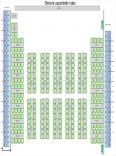 Divadelní sál, plán stolů